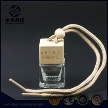 Hot selling 5ml square car air fresh diffuser perfume glass bottle