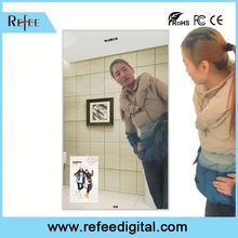Refee Android or PC Solution Motion Sensor,32inch Interactive wall mounted lcd advertising tv mirror