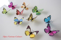 Walplus Colouful 3D Stickers Shine Butterflies Wall Mural Home art paper Decoration