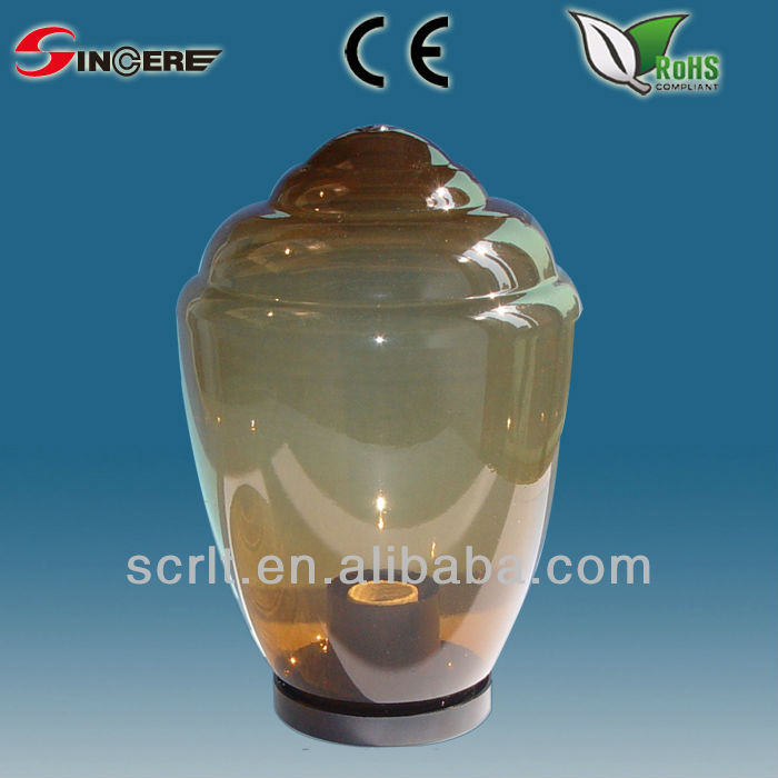 tea color uvioresistant acrylic outdoor globe wall lamp globe light fixture with E27 socket