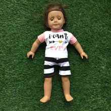 2 pieces summer clothes America doll outfits I can't even outfits arrow clothes doll clothing