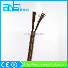 2 core transparent sheath copper stranded flat ribbon electric cable