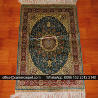classic area silk persian traditional red rug
