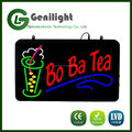 DC12V alphabet epoxy resin resembled durable magic light Bo Ba Tea led neon sign chain hanging flashing restaurant board