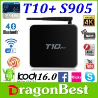 2016 most popular android tv box T10 Plus s905 Kodi 16.0 Fully Pre-Loaded sex porn vedio free loading google tv box from China