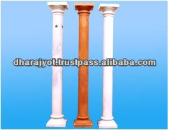 white and brown plastic pillar for decoration