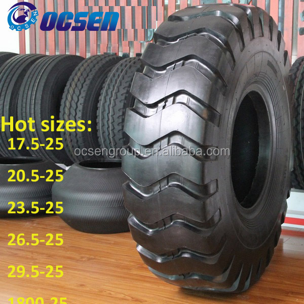 All season use durable 18.00-25 all terrain mobile OTR tyres for crane