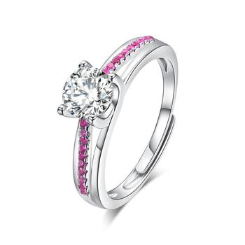 Popular Style Cubic Zircon Sterling Silver 925 Single Stone Ring Designs