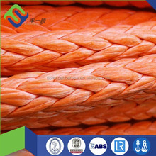 12 strands UHMWPE braide ROPE, synthetic winch rope, mooring rope