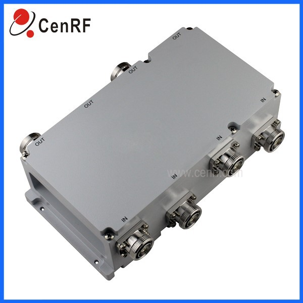 High quality 4 in 4 out 698-2700MHz DIN-Female Hybrid Combiner