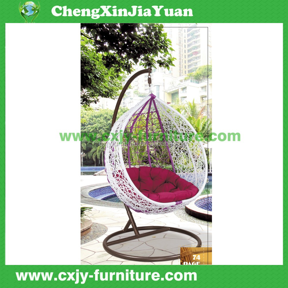 NO.4 Top quality garden rattan furniture adult single seat swing