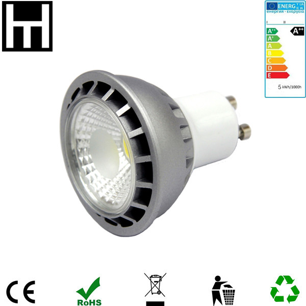 Warm white 2700K Ra80 PF0.9 7W Cob Dimmable Gu10 Mr16 Led Spot Light