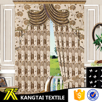 Flower jacquard design fabric hotel blackout curtain window for home textile