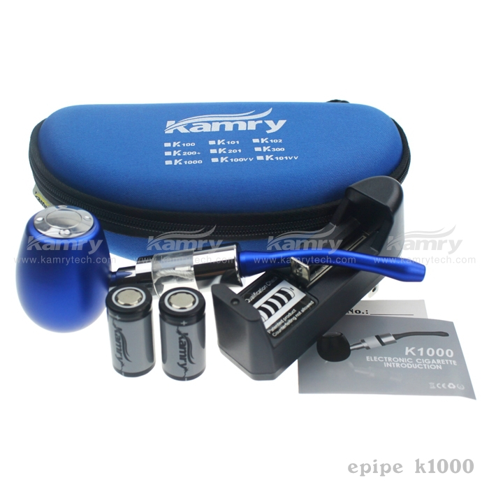 The electronic cigarette excellent quality vape mod starter kit kamry K1000 18350/900mah 510 e pipe k1000 bulk buy from china