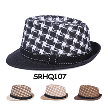 star double color straw fedora hat, jazz hat for men