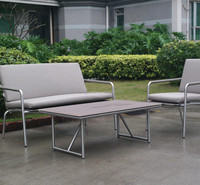 Stainless steel sofa garden furniture used outdoor