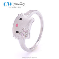 New Products 2015 Stock Lot Animal Sex Women'S Ring Lovely Cat Ss925 Kids Ring