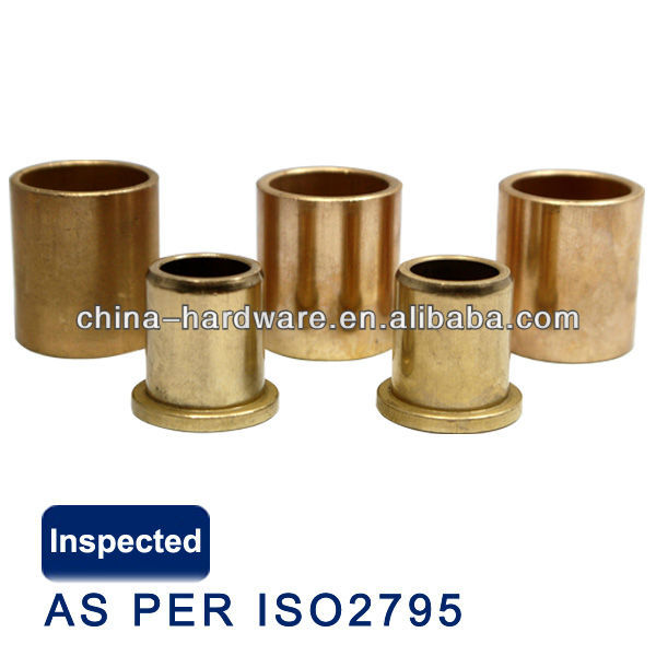 flanged bronze self lubricating oilite bushing,high quality brass oilite slide bushing