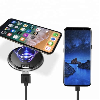 2019 new technology arrivals QC 3.0 7.5W Quick wireless Charge for iphone x Charging mat pad 10W Qi Wireless Table Desk Charger