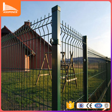 welded fence panel antique RAL 6005 color garden fence in china factory