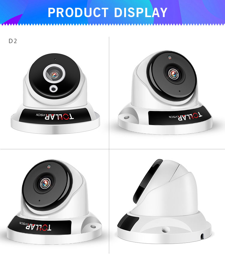 2018 New year 2.0mp AHD waterproof Infrared LED night vision cctv dome camera with new CMOS sensor