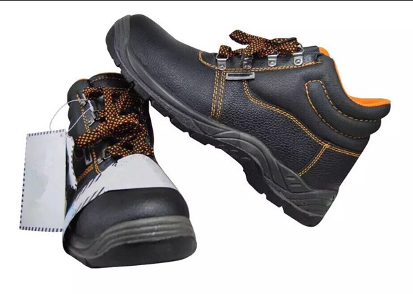 Comfortable Safety Shoes with Black Steel Toe Cap and Plate Manufacturer