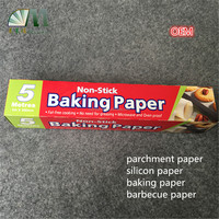 heat resistant heat transfer non-stick double side silicone coated release paper widely used in bakery