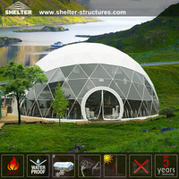 Newly designed steel frame structures event dome tenda
