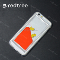 cute stylish liquid cell phone cover case for iphone