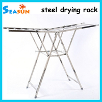 OEM Factory Supply Stainless Steel Large Collapsible Indoor Balcony Clothes Drying Rack