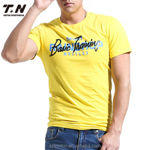 2017 Fashionable t shirt fabric 100% cotton ,tee shirt, t shirts in bulk