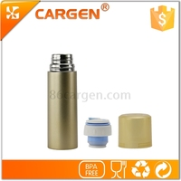 New multifunctional cap double wall water bottle stainless steel