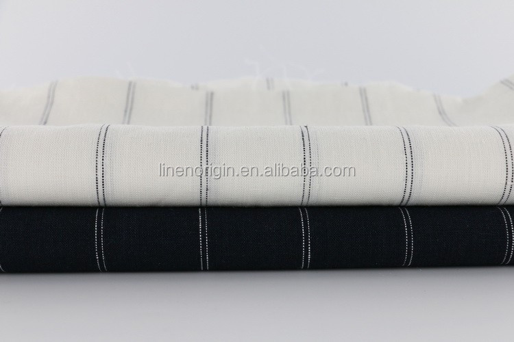 fashion linen fabric wholesale,arn dyed linen stripe fabric for pants & skirt,100% linen fabric