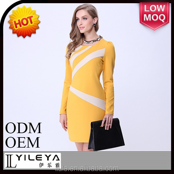 Fashional designed sexy long sleeve evening dress