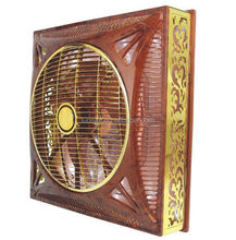"16"" 60*60CM Wooden Color Ceiling gfc Fan bangladesh with LED light strip inside"