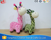lovely cartoon modelling soft zoo stuffed toy plush jungle animal stuffed giraffe