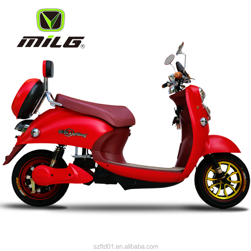 Women Used 800W Moped Cheap Electric Scooter/Motorcycles for Sale