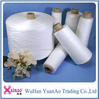 RAW WHITE 100 PERCENT SPUN POLYESTER PAPER CONE YARN