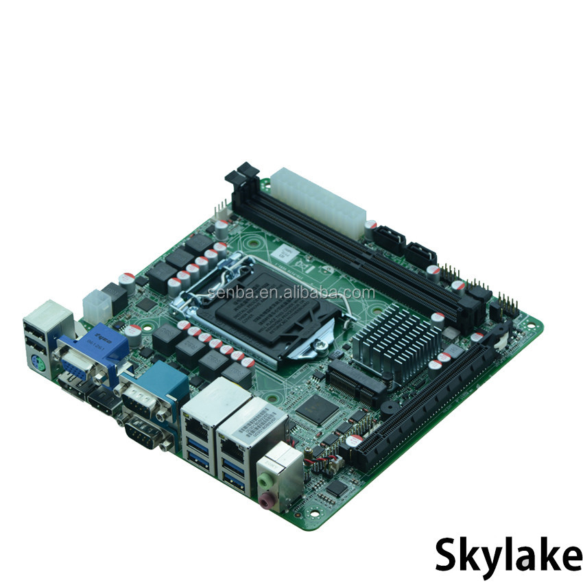 newest dual lan 1151 socket industrial motherboard skylake i3/i5/i7 for windows 10