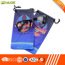 Custom printed microfiber eyewear pouch box,manufacturer pouch case for eyewear