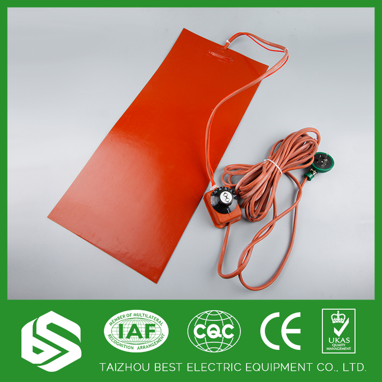 Heat transfer flexible silicone rubber oil drum heater pad 220v
