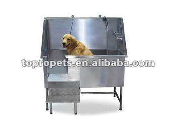 stainelss steel pet tub, dog tub