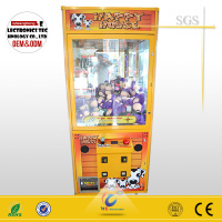 nice design crane claw machine/coin pushers toys claw machine for cheap sale