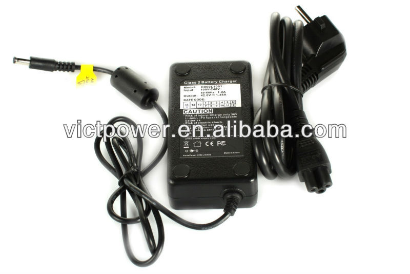 Battery accessories 36v charger for lithium battery pack