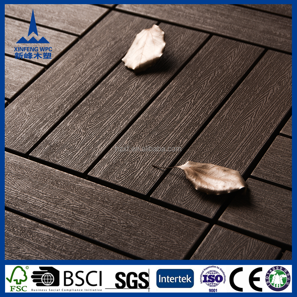 Environmental friendly recycled rich wpc wood decking /wpc raw material