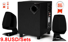 New Promotional Computer Subwoofer 2.1 Multimedia Speaker 2.1 Speaker with USB/SD/FM/Remote Control