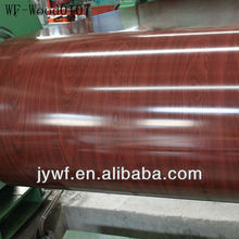 pre-painted wood grain galvanized wooden color coated steel coil for sandwich panel in sheets