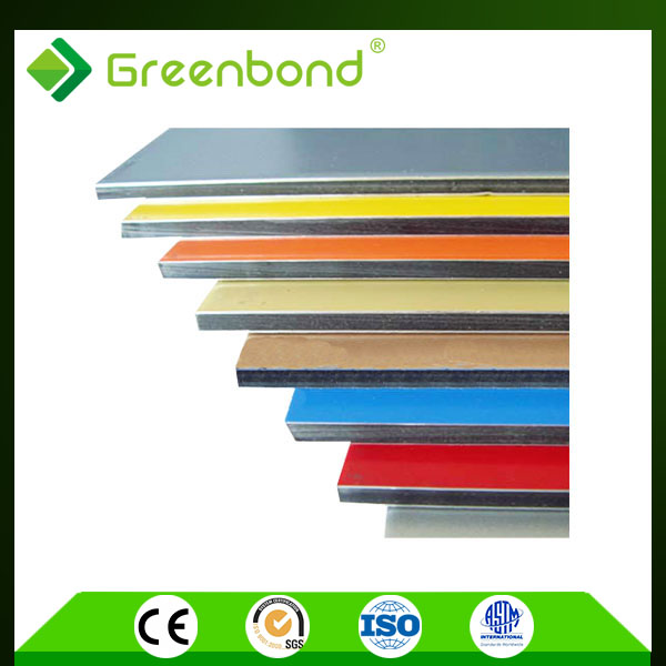 Greenbond golden/silver mirror finished mirror coating decorative wall acp acm panels for wall cladding all kinds of colors you