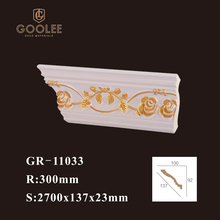 Goolee Interior PU foam Polyurethane Decorative Corner Ceiling Moulding
