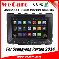 Wecaro WC-SY7070 Android 4.4.4 car dvd gps for ssangyong REXTON 2014 with radio 3G wifi playstore